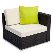 Contemporary Garden Wicker Sofa & Table Outdoor Furniture Set Luxury Corner Set image 4