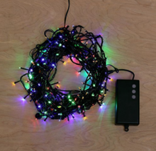 LampLust 60 Foot 200 LED Color Battery Operated Connectable String Lights - $19.38
