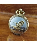 Vintage Majesti Gold & Silver Eagle Full Hunter Pocket Watch 46MM - $49.95
