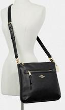 Coach Pebble Leather Mae Crossbody Bag Black F34823 NWT - $185.62 CAD