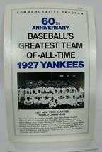 1927 New York Yankees World Champions 60th Anniversary Commorative Program - $29.62