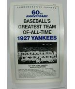 1927 New York Yankees World Champions 60th Anniversary Commorative Program - $35.68