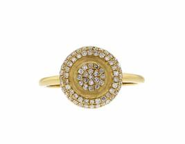 0.33ct Diamond 14k Yellow Gold Halo Ring Size 7 - £267.65 GBP