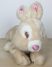"Disney Store Easter Thumper Plush Bambi 10"" Brown Bunny Rabbit Lavender Bow - $17.81"
