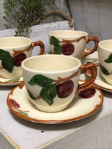 Franciscan California Apple Pattern set of 4 cups and Saucers 1940s - £20.97 GBP