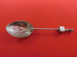 Bust by Gorham Sterling Silver Ice Spoon w/3D Bust on Cube PCD w/ Lotus BC - $1,809.00