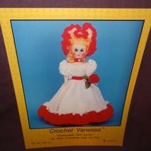 Crochet Vanessa Fashion Doll Dress Pattern 1987 Booklet PRE747 Td Creations - $9.99