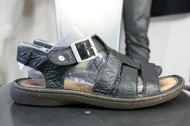 UGG Fisherman leather sandals 10 black worn 2X  - $40.00