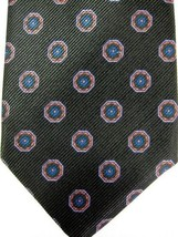 GORGEOUS New Robert Talbott Black With Orange and Blue Medallions Silk Tie - $37.49
