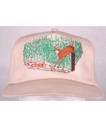 Vtg GARST Hat-Seed-Buck Deer Jump Fence-Corn Row-Brown-Snapback-Metal Ey... - $37.39