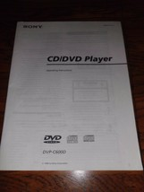 Sony DVP-C600D CD/DVD Operating Instructions Manual - $3.99