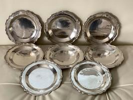 "Vintage Peruvian Sterling Silver 8 Serving Plates 5.5"" 462 Grams ""MV"" Ha... - $395.01"