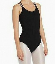 NEW Capezio CC123 Double Strap Camisole Leotard Black Small NWT - $18.62