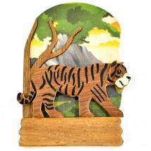 Northwoods Layered Wood Bengal Siberian Tiger Habitat Refrigerator Magnet