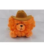 "Russ Cowboy Orange Puff Ball Plush 6"" 3265 Korea Stuffed Animal toy - $8.96"