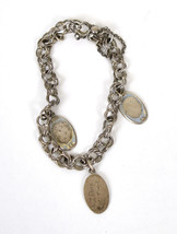 Wells Charm Bracelet Sterling Silver 3 Baby Tags 60's Vintage - $29.55