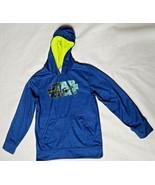 Star Wars Boys Hooded Sweatshirt Sz L 10 12 Blue Long Sleeve Pocket  - $11.87