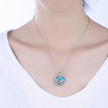 Fashion Antique Silver Plated Turquoise Pendant Chunky Statement Bead Ne... - $12.73