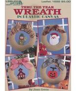 Thru the Year Wreath, Leisure Arts Plastic Canvas Pattern Booklet 1692 - $8.95