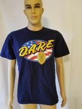D.A.R.E. Springfield Police Tee Shirt Blue American Flag Springfield Police DARE - $27.43