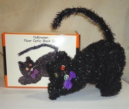 HALLOWEEN Fiber Optic Black Cat Life Size Color Change in Box w All Inse... - €31,98 EUR