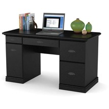 Better Homes and Gardens Computer Desk, Black Ebony Ash - $150.85