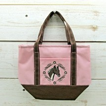 Imagine West Horse Purse Pink Zipper Bag 10 x 7 1/2 Small Pocket On Front - $11.08