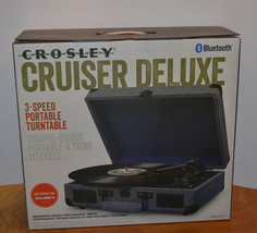 Crosley Cruiser Deluxe 3-SPEED Portable Turntable Record Player Bluetooth New - $63.84