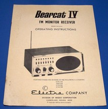 Bearcat IV FM Receiver Manual - $6.65