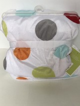 New Circo Target White Sherpa Baby Blanket Dots Red Orange Green Aqua Ci... - $635,21 MXN