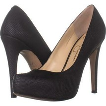 Jessica Simspon Parisah Hidden Platform Heels 332, Black Snake, 7 US / 3... - $29.65