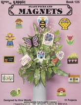 Plant Picks & Magnets, Plastic Canvas Pattern KOK 125 Bees Flowers Butte... - $7.95