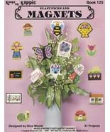 Plant Picks & Magnets, Plastic Canvas Pattern KOK 125 Bees Flowers Butte... - $7.95