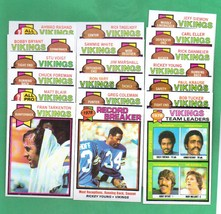 1979 Topps Minnesota Vikings Football Set  - $9.99