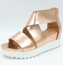 Steven by Steve Madden Kea Sandals Women Rose Gold Leather Natural Comfort - $32.19