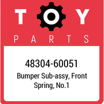 48304-60051 Toyota Bumper Spring, New Genuine OEM Part - $28.36