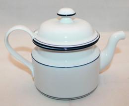 Dansk Bistro Christianshavn Blue White Tea Coffee Pot Lid Portugal Rare AS-IS - $92.23