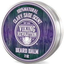 Beard Balm with Clary Sage Scent and Argan & Jojoba Oils - Styles, Strengthens &