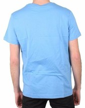 Versace MENS Logo Letterin Graphic V-Neck Blue Tee NWT image 2