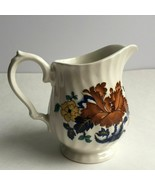 Vintage Myott Staffordshire England Floral Porcelain Creamer Milk Jug Pi... - $15.40