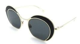 Giorgio Armani Sunglasses AR 6073 3013/87 47-22-140 Black - Pale Gold / ... - $124.75