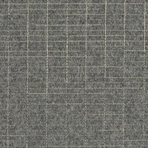 Luum Navigate Embroidered Grid Stone Gray Wool Upholstery Fabric 5.25 yd... - $199.50