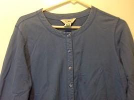 L.L. Bean Deep Periwinkle Blue Button Down Long Sleeve Sweater w Pockets Sz M image 2