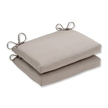Pillow Perfect Indoor/Outdoor Beige Solid Seat Cushion, Squared, 2-Pack - £31.97 GBP