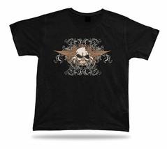 Angry Skeleton Skull Demon Evil unisex idea tee shirt design modern apparel - $7.57