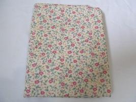 Cream Pink & Blue Floral Quilting Fabric JoAnn Fabrics 1 Yard - $9.90
