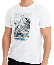 American Eagle Mens Short Sleeve Graphic Tee, Bright White XS, 3999-5 - $24.70