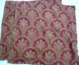 Pottery Barn Marcelle Red Fan Paisley Euro Sham Pair Cotton Linen Blend - $32.00