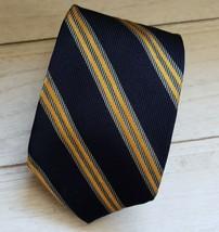 Brooks Brothers Makers Striped Designer 100% Silk Tie Skinny Tie - $12.86