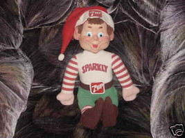 "18"" 7 UP SPARKLY Elf Plush Helper Doll From 1983 Rare - $49.49"